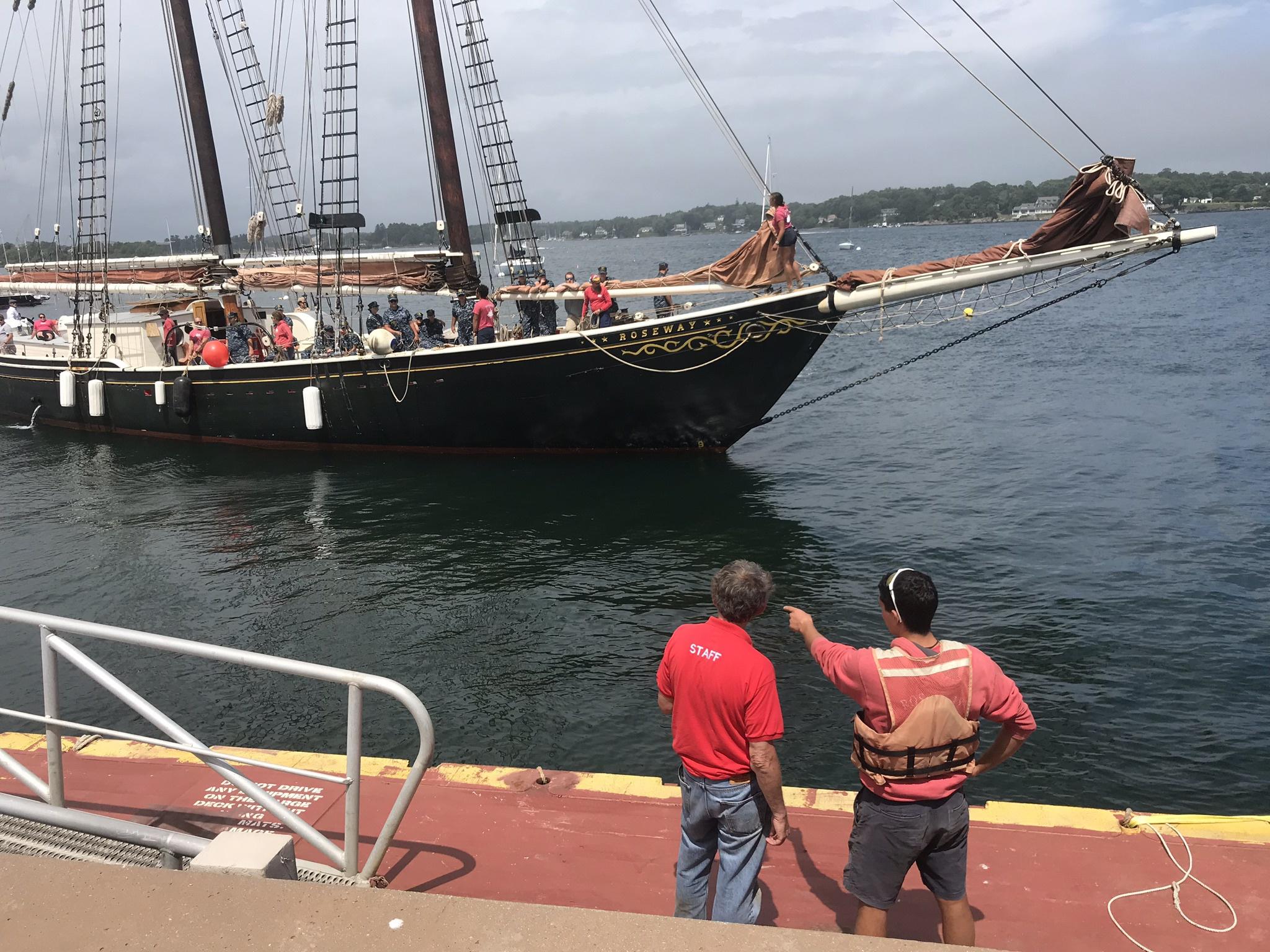 Roseway landing at new floating dock UNH Pier